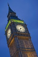 UK, London, Clock Tower, Big Ben at dusk