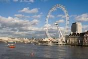 England, London, London Eye and Shell Building