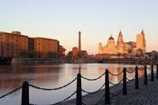 Liver Building from Albert Dock, Liverpool, Merseyside, England