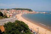 Aerial of Beach, Scarborough, North Yorkshire, England