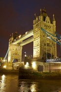 Tower Bridge and River Thames at dusk, London, England, United Kingdom