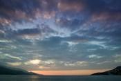 Greece, Aegean Islands, Samos, Vathy Bay Sunset