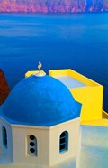 Beautiful Church with Blue Roof, Oia, Santorini, Greece