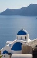 Blue church dome, Oia, Santorini, Greece