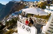 Mountain Cliffs of Fira, Santorini, Greece