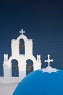 Greece, Santorini, Firostefani, Bell Tower, Domes