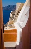 Stairways and Old Cathedral, Oia, Santorini, Greece