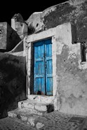 Colorful Blue Door, Oia, Santorini, Greece