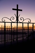 Greece, Santorini, Fira, iron cross, Christianity