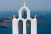 Greece, Santorini White Church Bell Tower