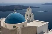 Greek Orthodox Church and Aegean Sea, Santorini, Greece