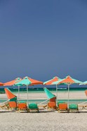 Greece, Crete, Hania, Elafonisi Beach Umbrellas