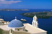 Kimisis Theotokov Church, Thira, Santorini, Cyclades Islands, Greece