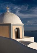 Church Dome Against Sky, Santorini, Greece