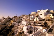 Old Town in Late Afternoon, Santorini, Cyclades Islands, Greece