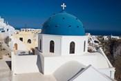 Blue Domed Church, Imerovigli, Santorini, Greece
