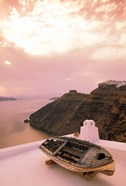 Imerovigli Viewed from Thira, Santorini, Cyclades Island, Greece
