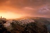 Town View at Dawn, Thira, Santorini, Cyclades Islands, Greece