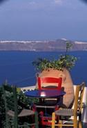 Terrace with Sea View, Santorini, Greece