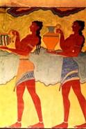 Artwork in Heraklion Knossos Palace, Greece
