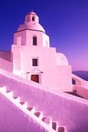 White Dome of Greek Church, Santorini, Greece