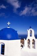 White Orthodox Church of Oia Santorini, Greece