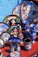 Artwork and Plates of Artists, Athens, Greece
