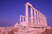 Ruins on Cliff in Cape Sounion, Poseidon, Greece