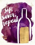 Watercolor Wine II