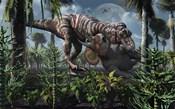 Tyrannosaurus Rex Kills a Triceratops as its Next Meal