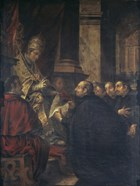 Saint Ignatius of Loyola Receives Papal Bull from Pope Paul III