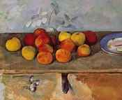 Still life of apples and Biscuits