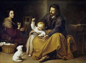 The Holy Family with a Small Bird
