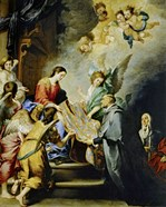The Descent of Virgin Mary to Reward the Writing of Saint Ildefonso of Toledo