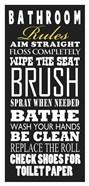 Bathroom Rules (Black)