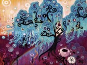 Blue Weeping Willow Whimsy Ii