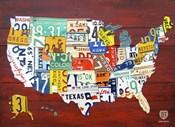 License Plate Map USA I