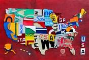 License Plate Map USA III