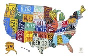 License Plate Map USA II