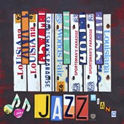License Plate Art Jazz Series Piano I