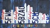 Los Angeles Skyline License Plate Art
