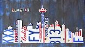 Seattle Skyline License Plate Art
