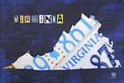 Virginia License Plate Map I