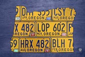 Oregon License Plate Map