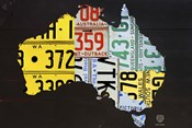 Australia License Plate Map