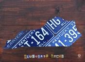 Kentucky License Plate Map