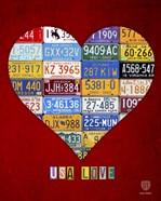 License Plate Art Heart