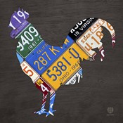 License Plate Art Rooster