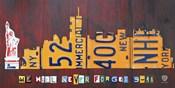 NYC License Plate Art Skyline 911 Version