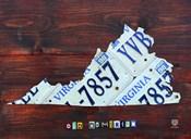 Virginia License Plate Map II